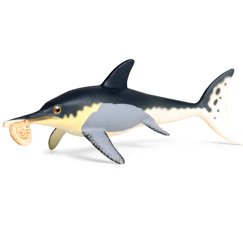 Ichthyosaurs Animal Figure Collectible Toys Sea Animal Cognition Action Figures Kids Plastic Cement Toys