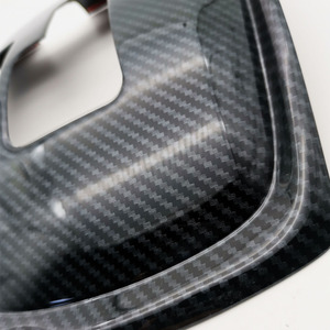 Image 5 - 1Pc 자동차 기어 시프트 노브 스티커 패널 커버 트림 왼쪽 손 드라이브 탄소 섬유 ABS 닛산 X 트레일 T32 불량 2014 2019