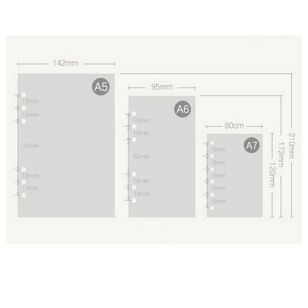 45 feuilles A5 a6 a7 papier de planificateur en spirale imprimé, papiers de remplissage pour reliure à anneaux. Mignon coloré quotidien hebdomadaire mensuel pour faire des points blanc