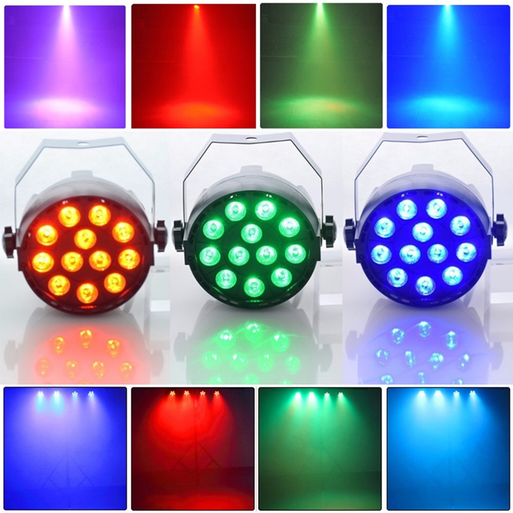 Aimkeeg 12 LED RGB 3IN1 Stage Lights Party Lights DMX 512 Night Club Party KTV Bar Festival Wedding DJ Spotlights