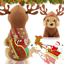 Pet Dog Clothes Christmas Costume Cute Cartoon For Small Cloth Dress Xmas apparel for Kitty Dogs Coat