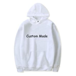 CUSTOMIZE MADE Print Solid Hoodies Autumn Winter Casual Long Sleeve Women Sweatshirt Cute Harajuku Streetwear Hooded Clothes Top
