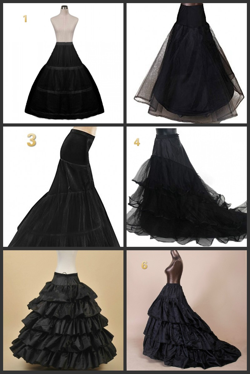 Enaguas negras para vestido de novia crinolina jupon de mariage enaguas saiote novia anagua de vestido de novia de underskirt