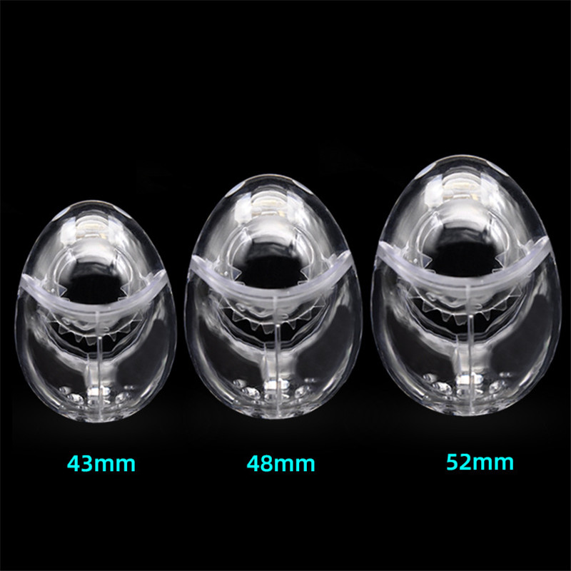 New Design Male Fully Restraint Egg-type Chastity Device Cage