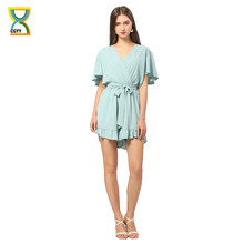 CGYY Summer Dress Ladies 2021 Boho Short Sleeve Casual Jumpsuit Rompers Women Sexy V Neck Solid Overalls House Of Sunny Vestido