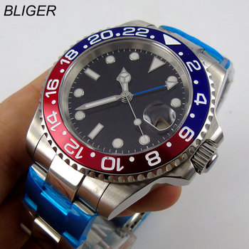 40mm Mechanical Watches GMT Sapphire Crystal Man Watch Diver Watch Automatic relogio masculino Role Luxury Watch Men parnis automatic watch 40mm deployment clasp miyota sapphire glass lume black dial mechanical watches relogio masculino gift