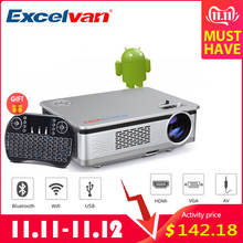 Excelvan HT60 Home Projector Android 6.0 1080P 3200lm Bioskop Rumah Video Game WIFI Bluetooth dengan Bluetooth Keyboard(China)