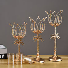 New wrought iron candlesticks wedding props home decoration candlesticks table candlelight dinner candlesticks ornaments