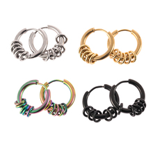 1pcs Stainless Steel Punk Earrings Fashion Hip Hop Hypoallergenic Unisex Party Banquet Gift Jewelry