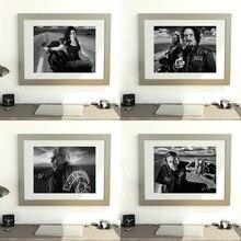 Noir et blanc classique série TV affiches Jax SOA FX Anarchy émission de télévision imprimer moderne mur Art photo toile peinture décor à la maison