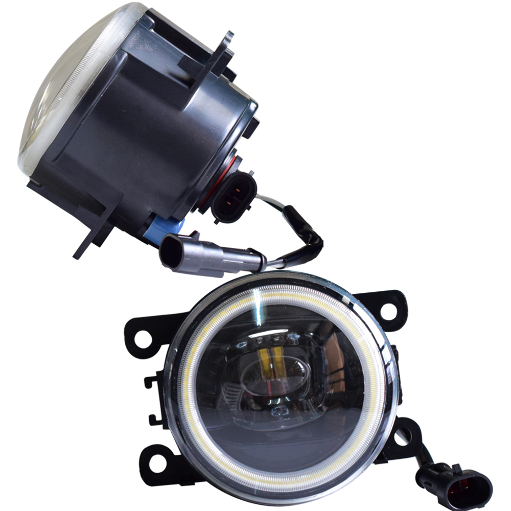 For <font><b>Peugeot</b></font> <font><b>208</b></font> 2014-2015 Angel Eyes Fog Light 12V LED Automobiles High Brightness Fog Lamp Car Accessories image