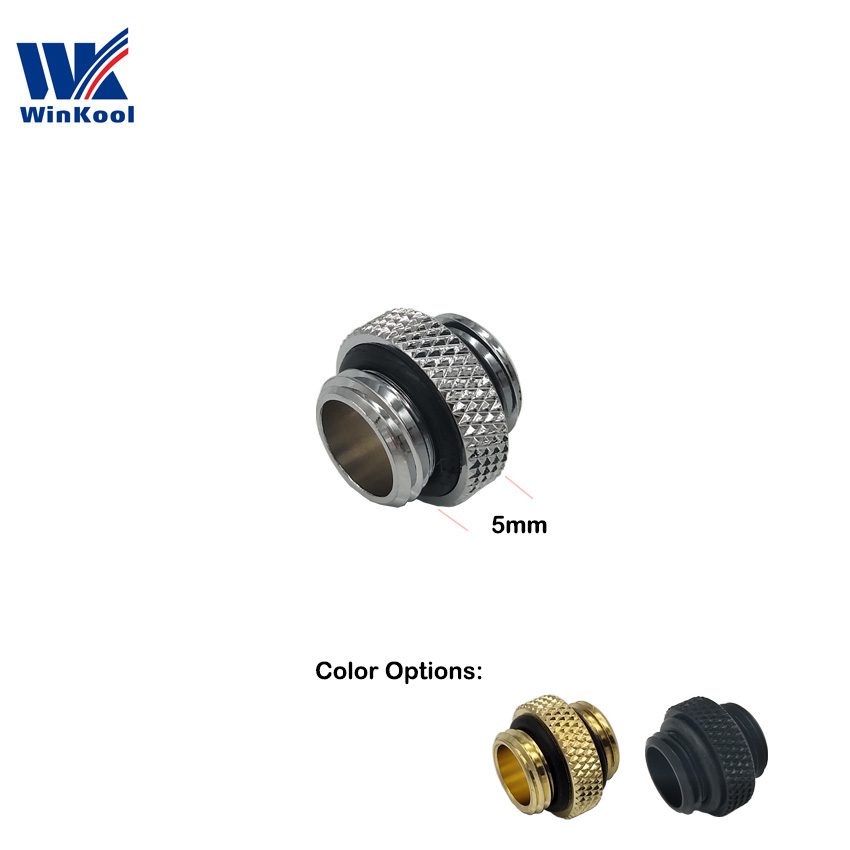 WinKool Mini  Male To Male 5mm Extender Fitting With G1/4