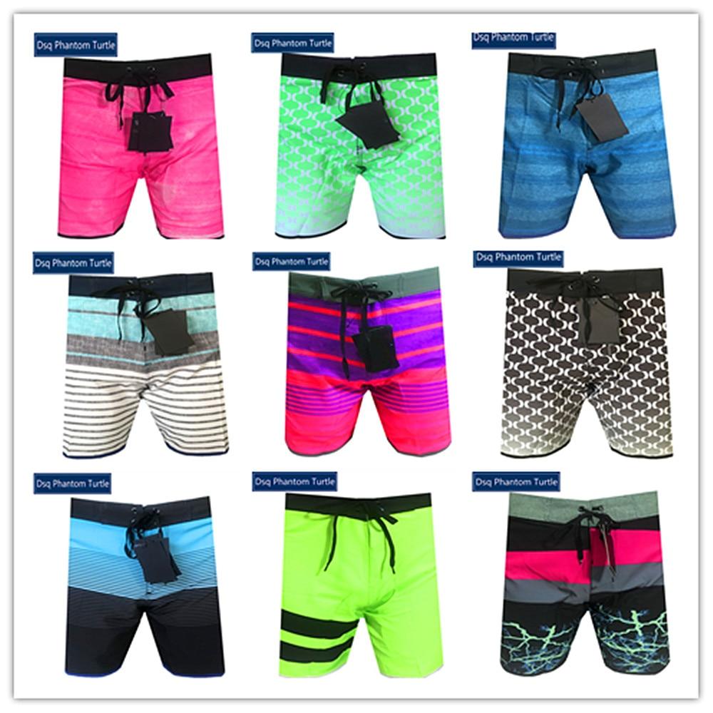 2020 Bermuda Beach Brand Man Swimwear Spandex Mens Hawaiian Stretch Board Shorts Elastic Dsq Phantom Turtle Yellow Cyan Purple