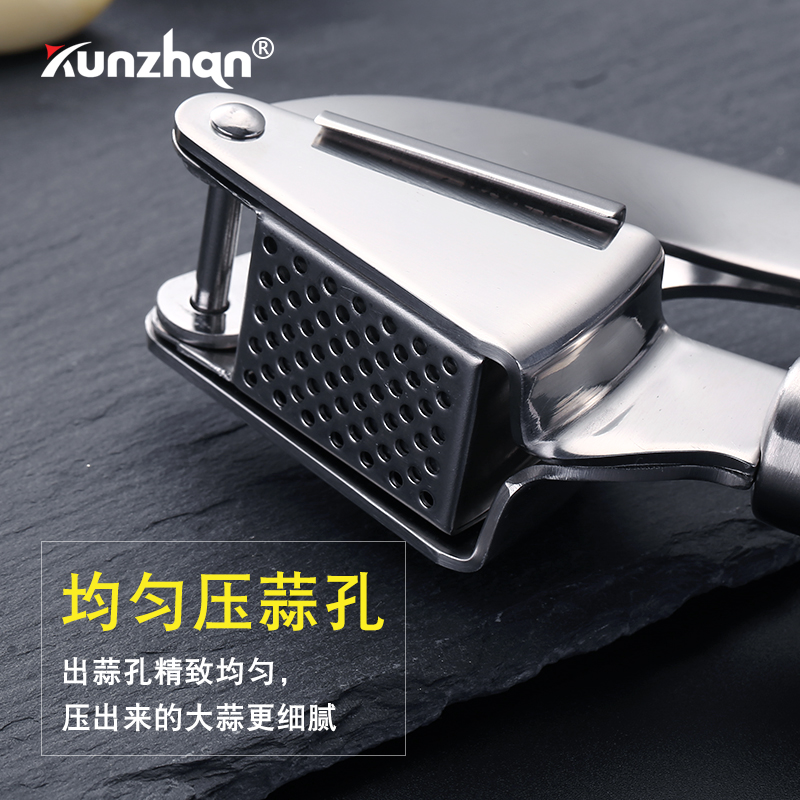 Stainless Steel Garlic Press Presse Ail Professionnel  Manual Garlic Household Kicthen Masher Tool