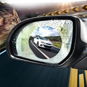 Image 2 - 2Pcs Waterproof Nano Stickers Car Rear View Mirror Protective Film Anti fog Window Clear Rainproof Rearview Mirror