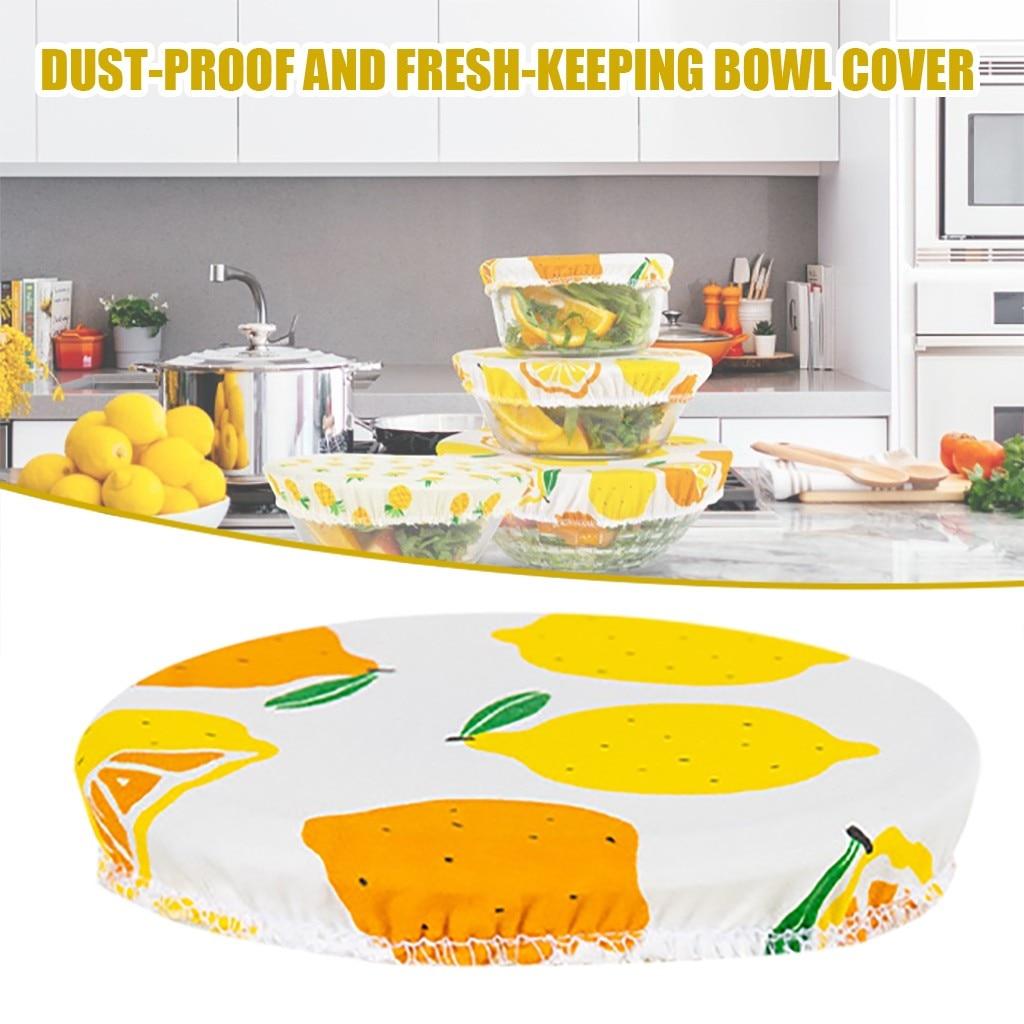 Tapas de silicona reutilizables para alimentos, cuenco cubierto de algodón con tapa de sellado y tapa elástica, mantiene la comida fresca
