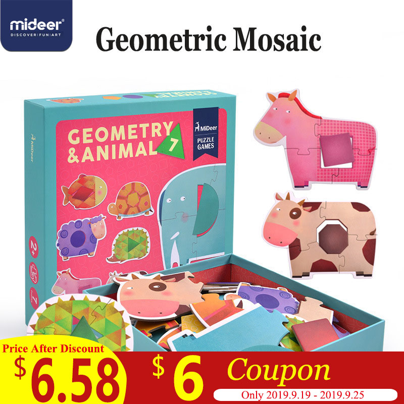 Mideer Puzzle Game Baby Jigsaw Puzzle Children Wooden Toys Educational Game Geometric Cognitive Interaction Toys 2-4Y Gift