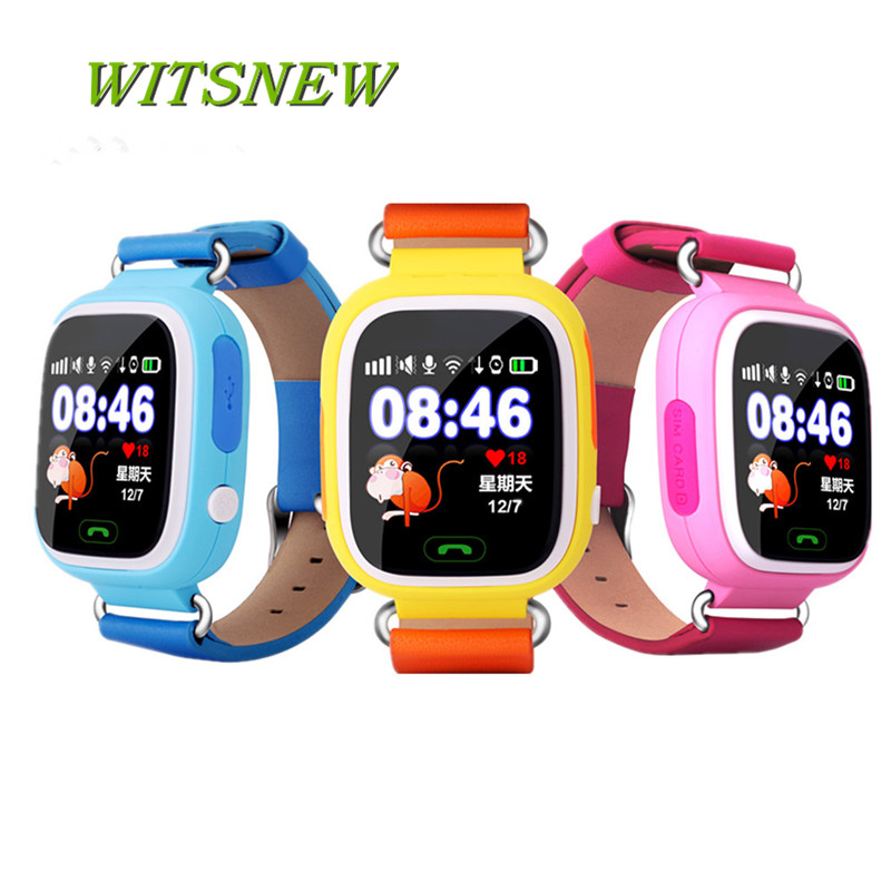 Q90 GPS Child Smart Watch Phone Position Children Watch Color Touch Screen WIFI SOS LBS Monitor Call Tracker Kids Smart Watch