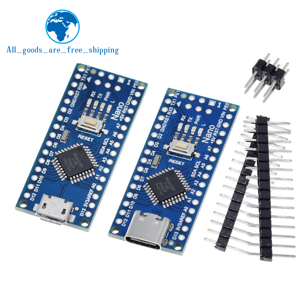 Tipo-c/micro usb nano 3.0 com o bootloader compatível nano 3.0 controlador para arduino ch340 usb driver 16mhz atmega328p