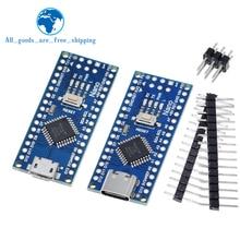 Type-C / Micro USB Nano 3,0 с Загрузчиком совместимый контроллер Nano 3,0 для USB-драйвера arduino CH340 16 МГц ATMEGA328P