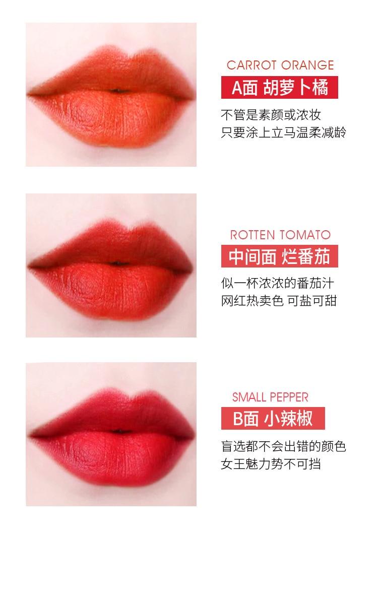 6 cores em 2 lábios matte longa