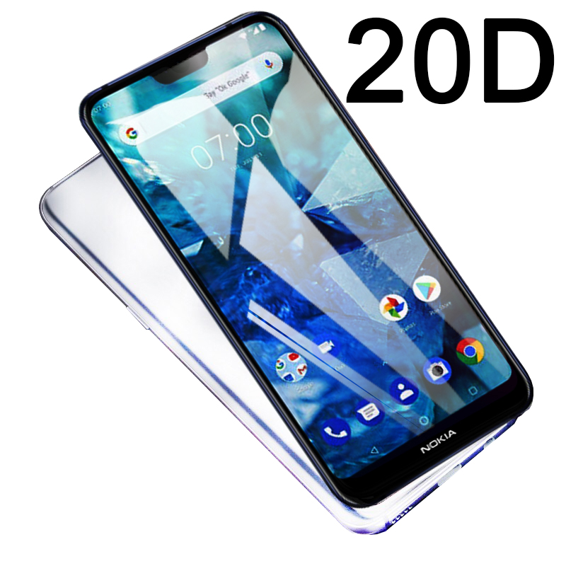 20D protective tempered glass for <font><b>Nokia</b></font> 3 5 6 7 8 2017 2.1 3.1 5.1 6.1 <font><b>7.1</b></font> 8.1 X5 X6 X7 2018 9 Pureview 2019 <font><b>screen</b></font> <font><b>protector</b></font> 9H image