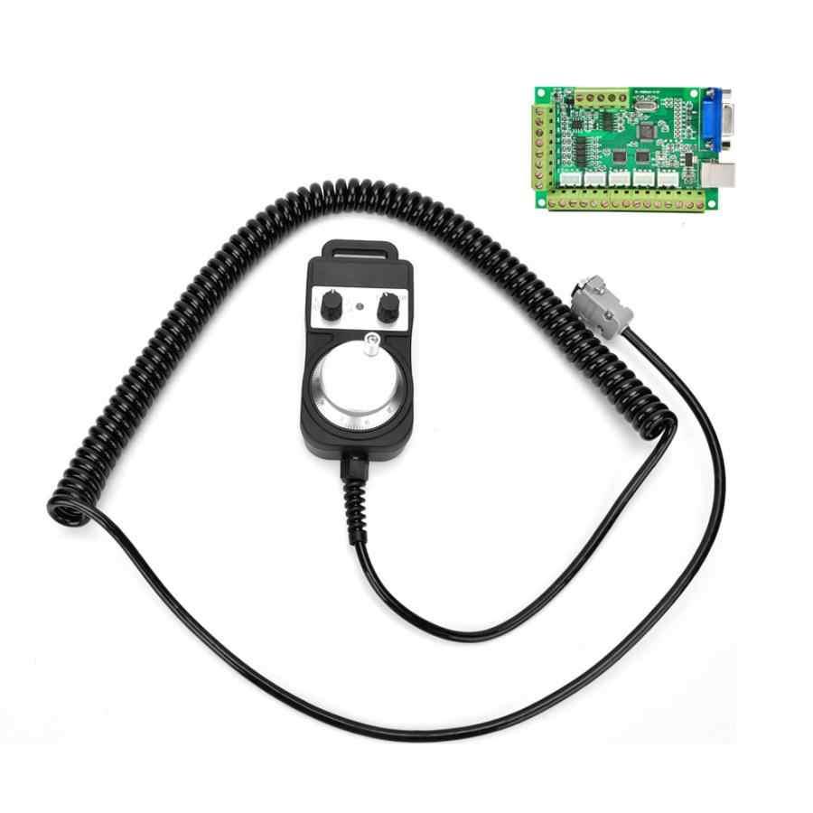 Contrôleur de mouvement vert 5 essieux MACH3 carte d'interface USB carte de contrôle de mouvement CNC + volant sans arrêt