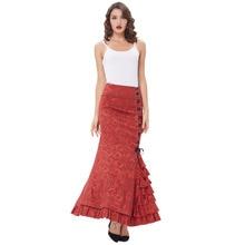 Chinese Style Skirt Bohemia Floral Print Skirt Vintage Floral Long Skirts Women Beach Elegant Beach Maxi Skirt High Waist Women