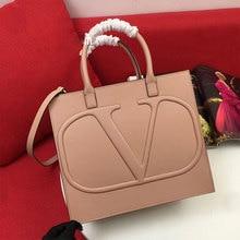 2021 new embroidered letters large capacity leather handbag high quality tote bag ladies fashion messenger shoulder bag
