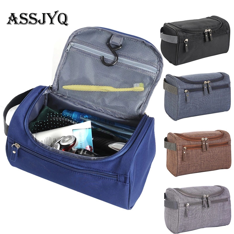 Brands Men's Waterproof Cosmetic Bag Scrub Travel Large Capacity Organizer Makeupup Bag Women Beautician Hand Vanity Case Bag