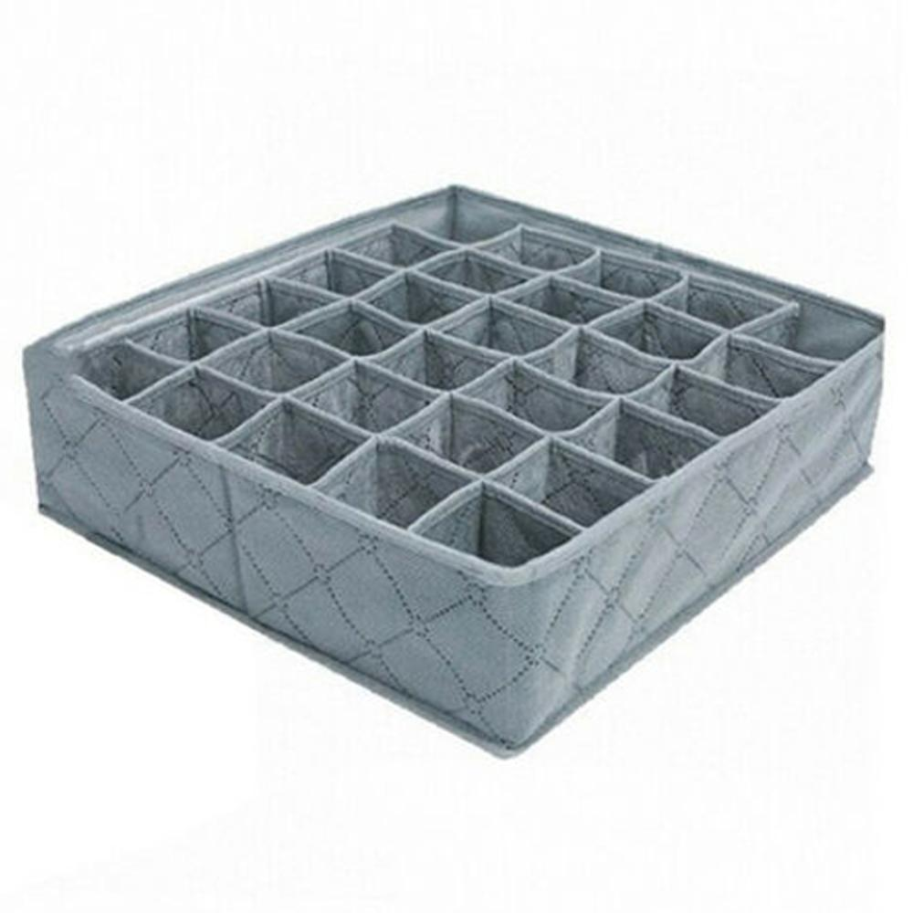 30 Grids Underwear Socks Storage Drawer Closet Bamboo Charcoal Organizer Box DTT88