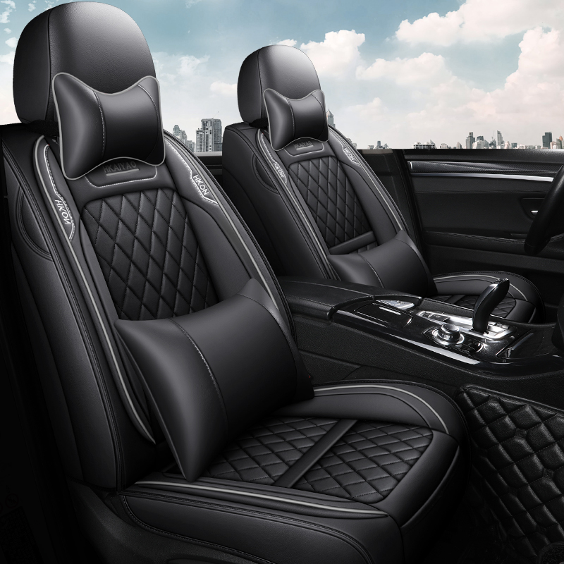 Full Coverage Eco-leather auto seats covers PU Leather Car Seat Covers for <font><b>toyota</b></font> prado 120 150 premio prius <font><b>20</b></font> 30 rav4 venza image