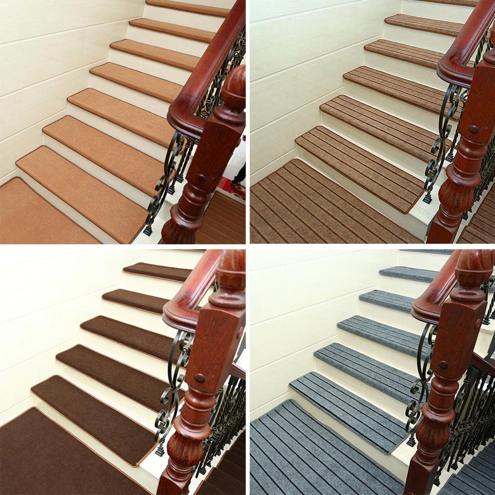 Set Self-adhesive Stair Pads 65cm*24cm Anti-slip Rugs Carpet Mat Sticky Bottom Repeatedly-use Safety Pads Mat For Home