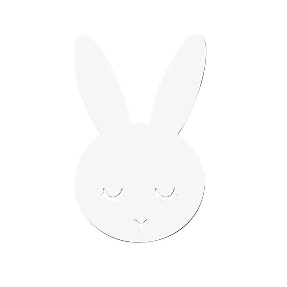 Pegatinas de espejo acrílico nórdico dibujos animados conejo ciervo pared Cámara Props niños habitación DIY manualidades pared decoración Mural calcomanía