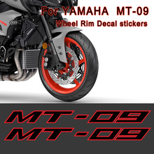 MT 09 Motorcycle Sticker Decal Stripes Wheel Rim For YAMAHA MT-09 MT09 Helmet Tank Body Shell Printing Film 2017 2018 2019