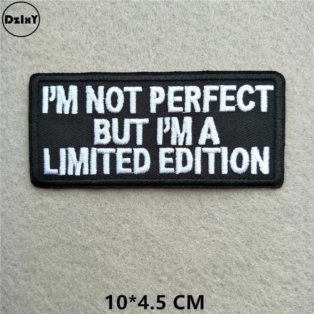 Черно-белые вышитые нашивки с английским алфавитом для одежды, сделай сам, полоски, написанные слова, наклейки, буквы для одежды, железные значки@ B - Цвет: 1-PCS-B-94