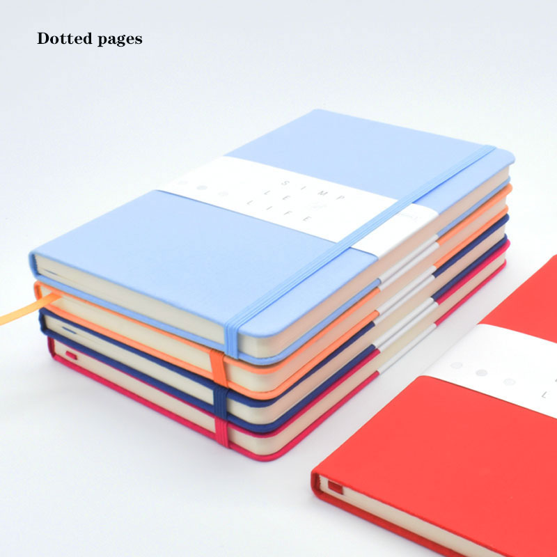 Diario Bullet para la planificación de objetivos cuaderno punteado A5 tela dura cubierta 80 hojas/160 páginas Oficina y suministros escolares planificador hecho a mano