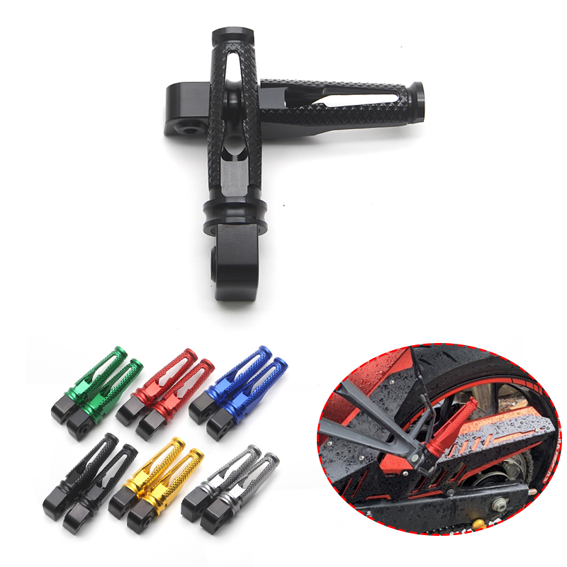For Kawasaki ZX10R ZX-12R ER6N ER6F Z650 Z900 Ninja 650 CNC Motorcycle Pedals Rear Passenger Foot Pegs Foot Rests