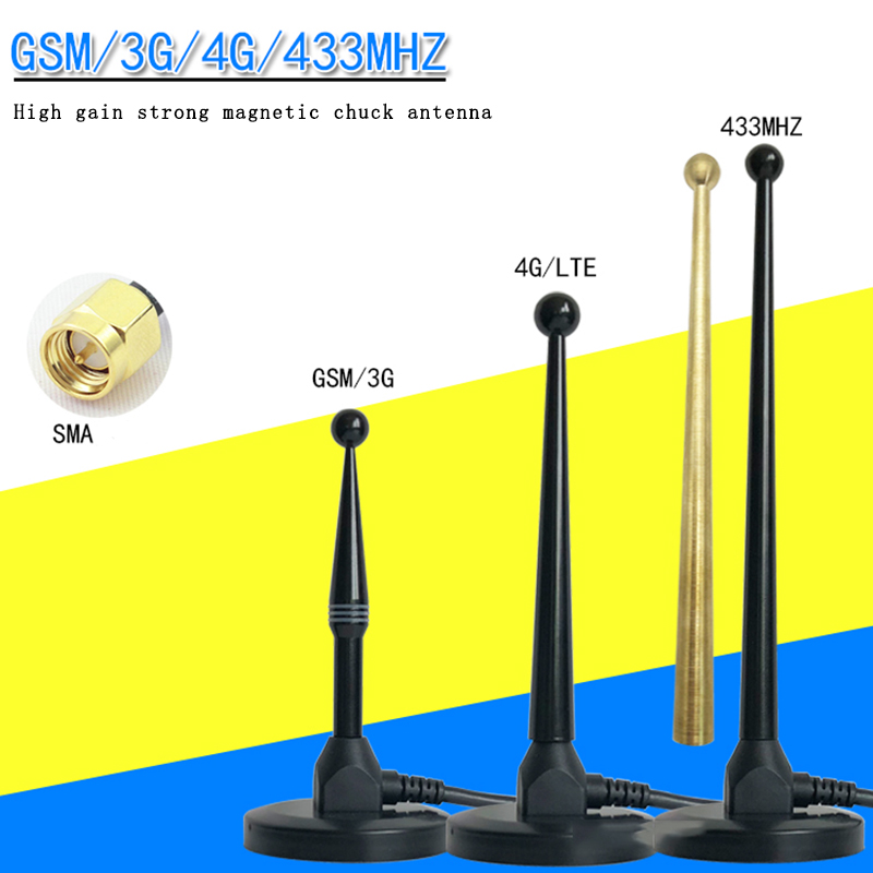 New GSM 3G 4G 433M 470MHZ SMA Male Large Sucker Antenna High Gain Digital Transmission Antenna DTU Module Antenna RG58 3m Cable