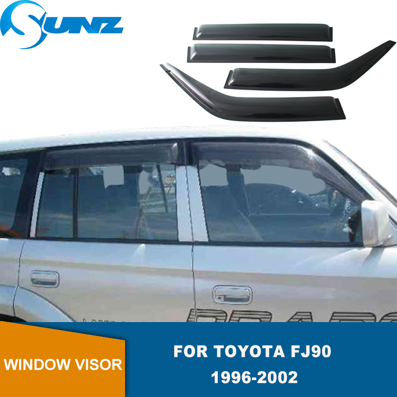 Side Window Deflectors For Toyota Land Cruiser Prado 90 Fj90 1996 1997 1998 1999 2000 2001 2002 WeatherShields Window Visor SUNZ