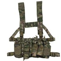 Multicam Tactical Molle Vest Ammo Chest Rig Removable Hunting Airsoft Paintball Gear Vest With AK 47/74 Magazine Pouch