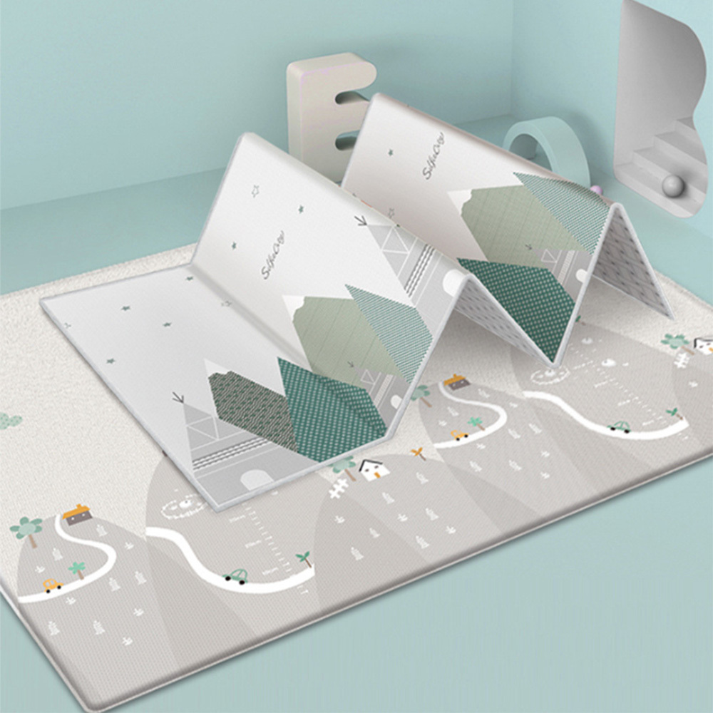 Infant Folding Double-Sided Waterproof Play Mat Children Thickened Crawling Pad Baby Carpet For The Baby Playing 200*180*1cm