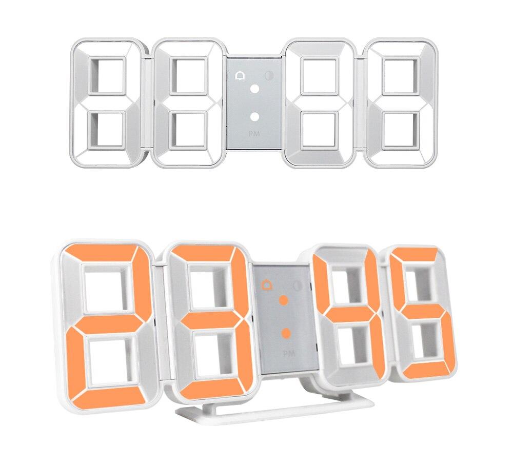 Digital Wall Clock 3D LED Large Time Calendar Temperature Desk Table Modern Design Digital Table Clock Backlight Home Clocks