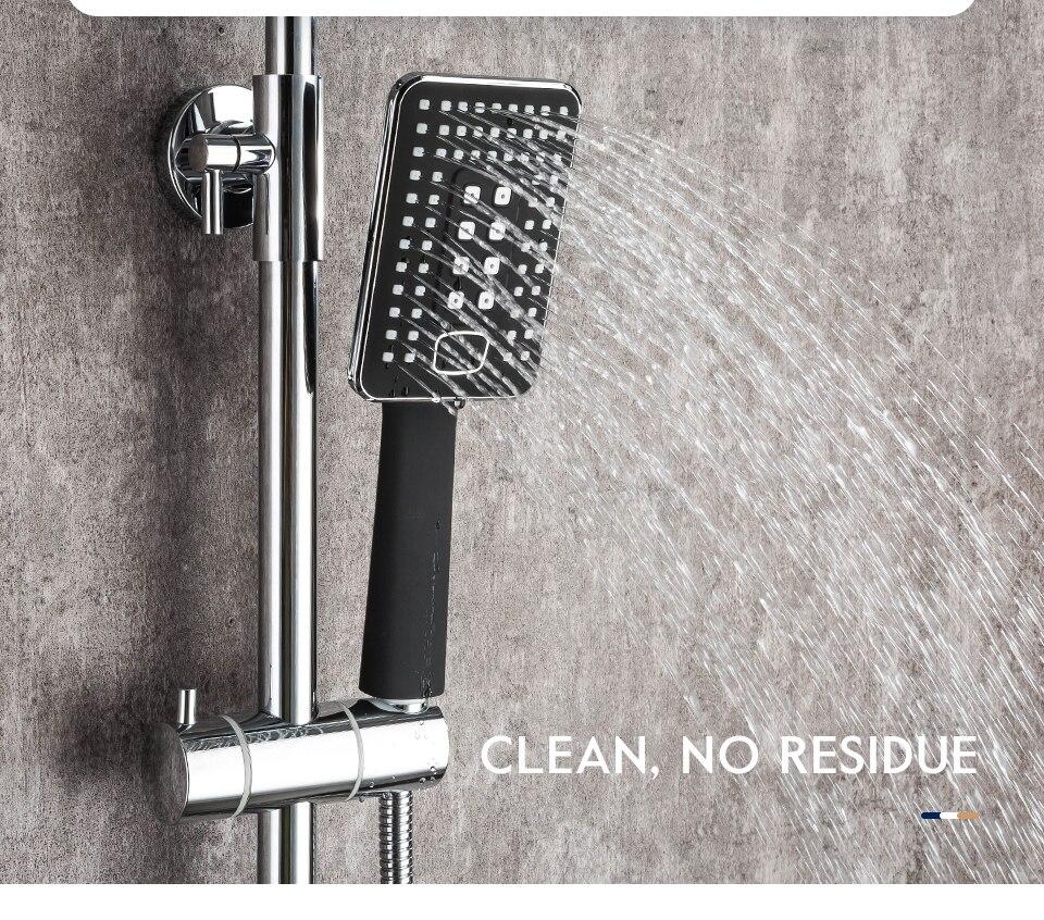 H23e44647adbc426fab6125882c229a9d9 Frap Bathroom Faucet Black Rain Shower Head Faucet Wall Mounted Bathtub Shower Mixer Tap Shower Faucet Shower Set Mixer F2457