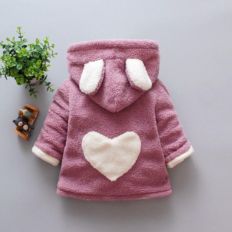 Купить детское пальто куртка для новорожденных девочек розовые с капюшоном