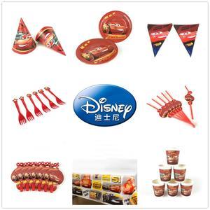 Coches Disney niños decoración de fiesta de cumpleaños globo de alta calidad tazas platos Baby Shower suministros de vajilla desechables