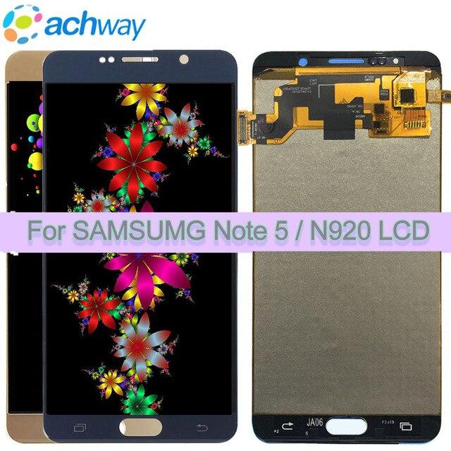 Per la nota di samsung 5 lcd Touch Screen Digitizer nota 5 lcd Assemblea di schermo TFT lcd Per SAMSUNG NOTA 5 LCD sostituzione dello schermo