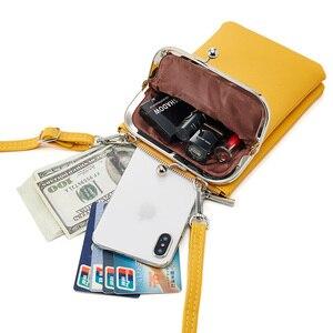 Image 4 - Neue Bunte Kleine Handy Tasche Weibliche Mode Täglichen Gebrauch Schulter Taschen Frauen Leder Mini Umhängetasche Messenger Tasche Damen Geldbörse