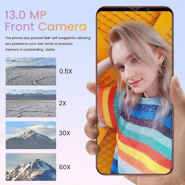 Note30 Plus Smartphone 6.1 Inch Dual SIM Smart Phone 4G Facial Unlocking 13MP+24MP Mobile Phone US Plug EU Plug 3