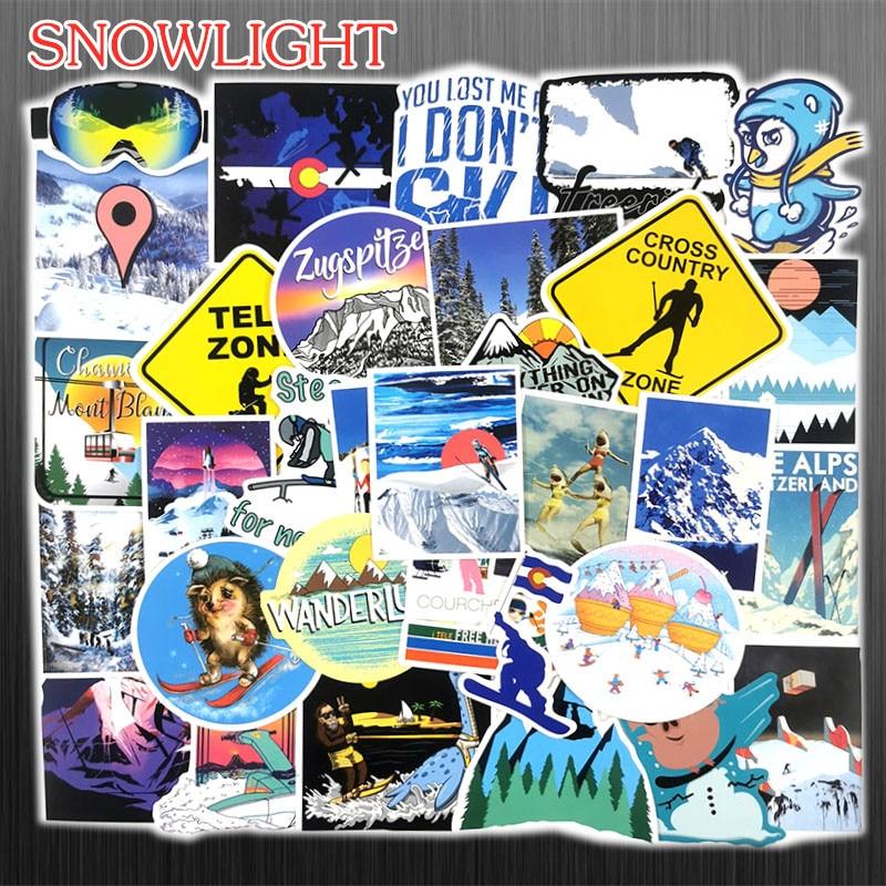 70 PCS Outdoor Adventure Winter Ski Landscape Stickers Travel Waterproof For DIY Suitcase Laptop Bicycle Helmet Car Skateboard